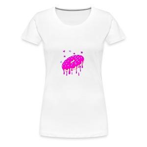 Drippy Pink Donut - Frauen Premium T-Shirt