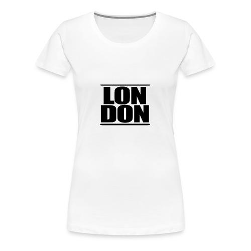LON   DON Black - Women's Premium T-Shirt