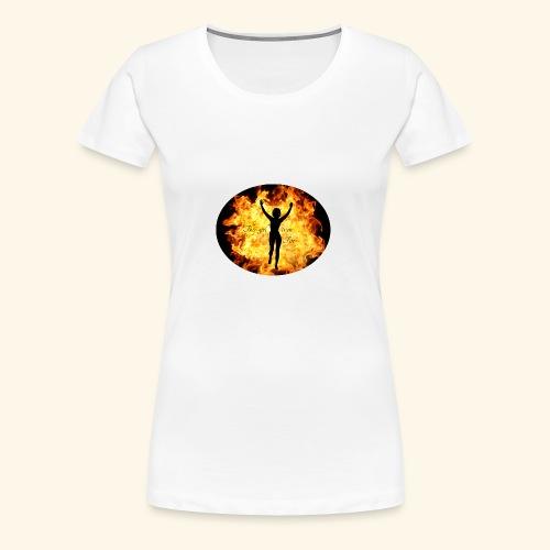 Girl on fire - Premium T-skjorte for kvinner