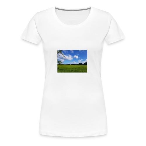 Feld in Schleswig Holstein - Frauen Premium T-Shirt