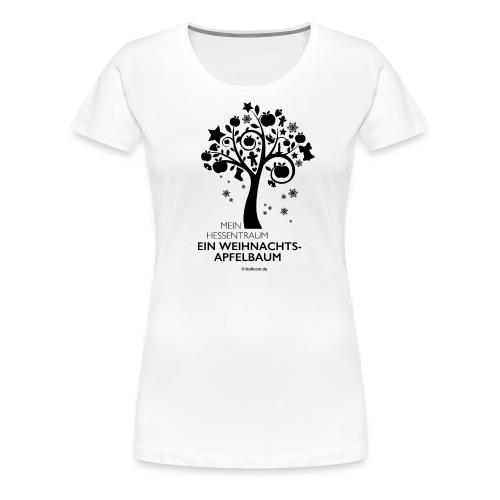 Weihnachtsapfelbaum klassisch, schwarz - Frauen Premium T-Shirt