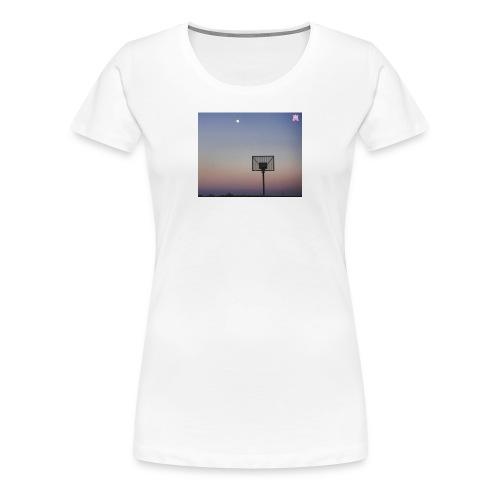 T Shirt mit Basketballkorb - Frauen Premium T-Shirt