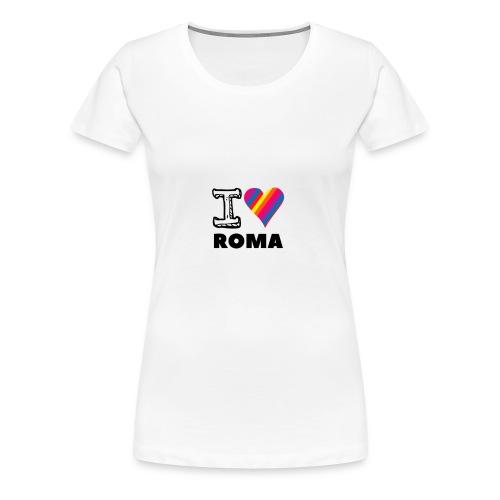 I LOVE ROMA - Frauen Premium T-Shirt
