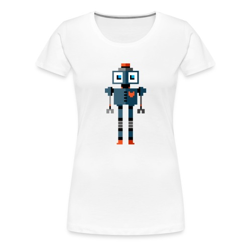 Blue Robot - Women's Premium T-Shirt