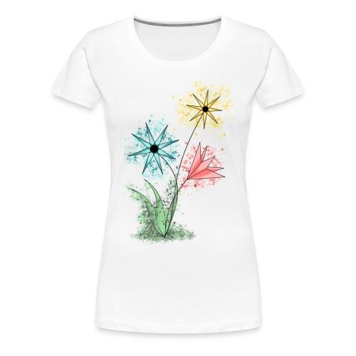 Flowers - Bunte Blumen - Frauen Premium T-Shirt
