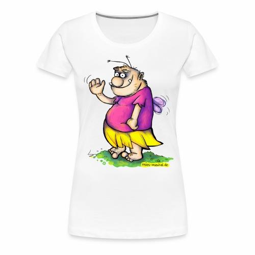 Die winkende Pummelfee - Frauen Premium T-Shirt