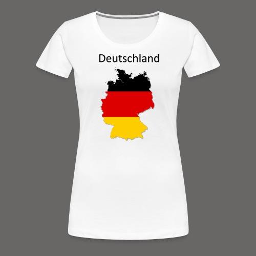 Deutschland Karte - Frauen Premium T-Shirt