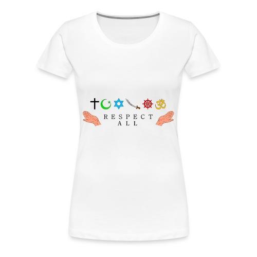 Respect All - Frauen Premium T-Shirt