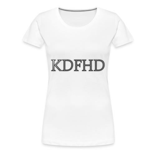 KDFHD - Premium-T-shirt dam