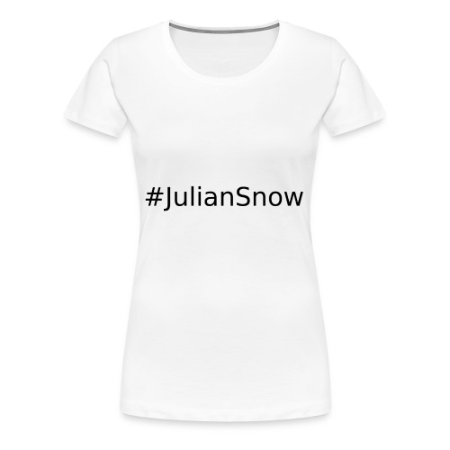 #JulianSnowBlack - Koszulka damska Premium