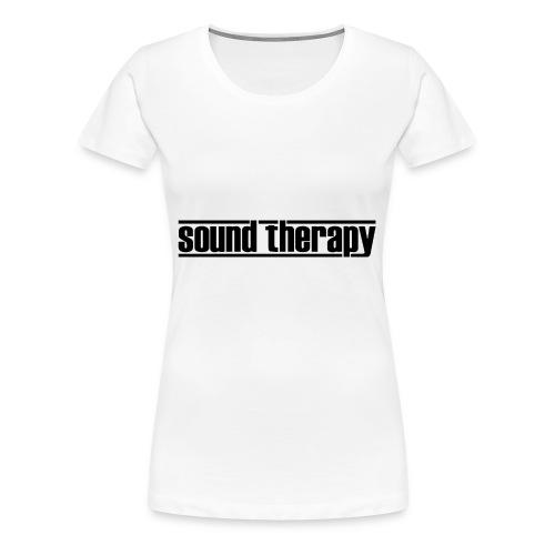 Sound Therapy (black) - Premium-T-shirt dam