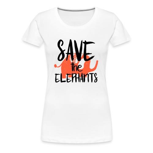 Save the Elephants - Women's Premium T-Shirt
