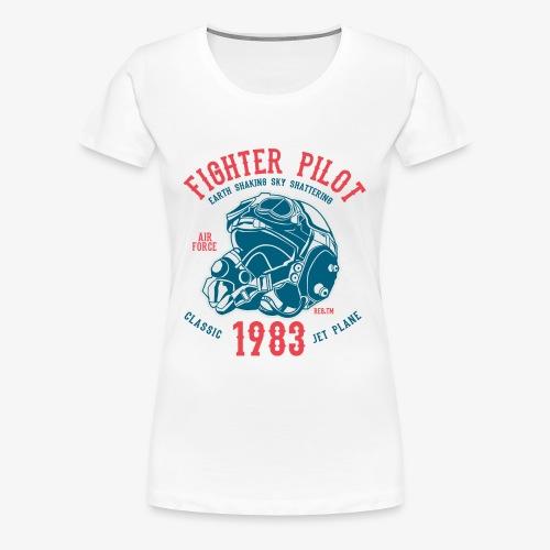 CLASSIC JET PLANE - Kampfjet Piloten Shirt Motiv - Frauen Premium T-Shirt