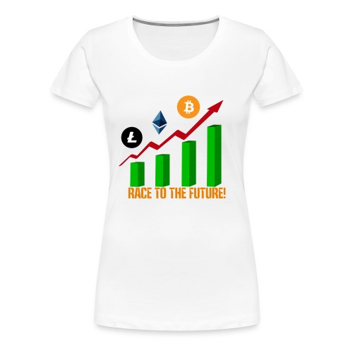 race to the future btc - Camiseta premium mujer
