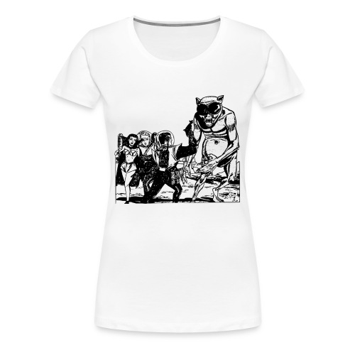 Altes Retrozukunft Alien Monster Design - Frauen Premium T-Shirt