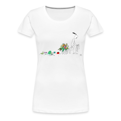 frukt og grønt handleveske - Premium T-skjorte for kvinner