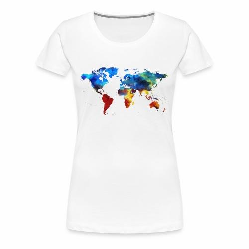 Bunte Welt - Frauen Premium T-Shirt