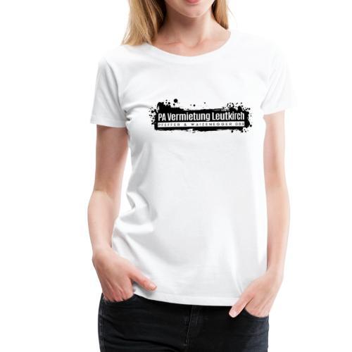 PA Vermietung Leutkirch Logo mit Klex - Frauen Premium T-Shirt