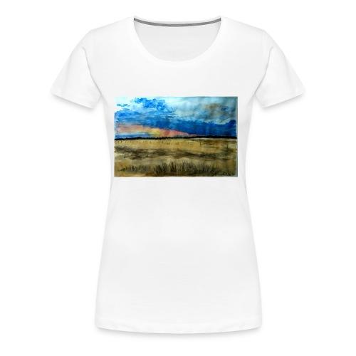 Champs de Californie - T-shirt Premium Femme