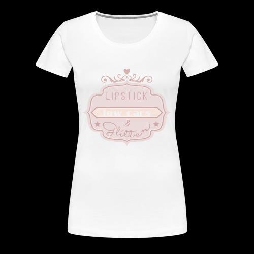 LIPSTICK LOWCARS GLITTER - Frauen Premium T-Shirt