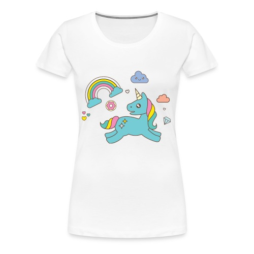 colored unicorn - Women's Premium T-Shirt