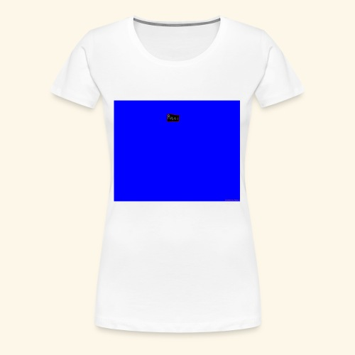 pucci blue background logo - Dame premium T-shirt