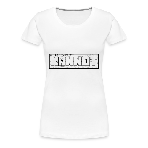 Kannot logo schwarz, weißer stoff - Frauen Premium T-Shirt