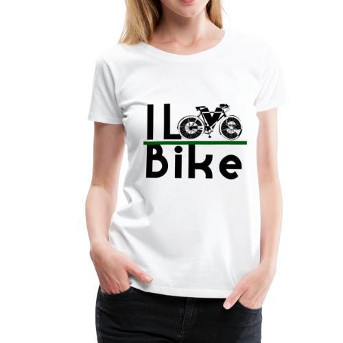 I love bike - Maglietta Premium da donna