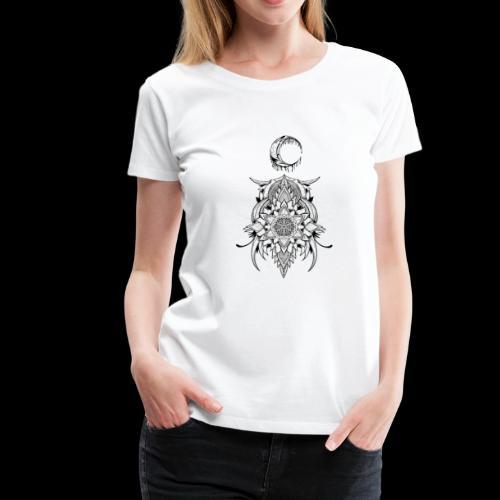 Der Mond - Frauen Premium T-Shirt