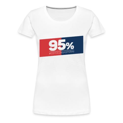 95% - Io sto con Gasperini - Maglietta Premium da donna