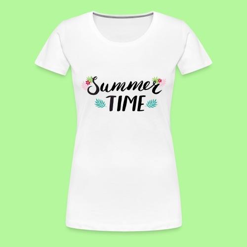 Summer Time Black & White - Women's Premium T-Shirt