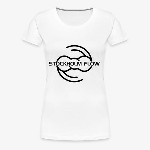 Stockholm Flow svart tryck - Premium-T-shirt dam