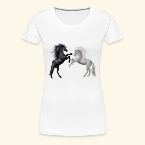 horses 1980045 - Frauen Premium T-Shirt