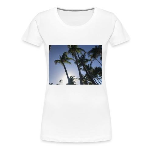 Karibik Palmen - Frauen Premium T-Shirt