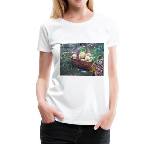Quitten-Korb - Frauen Premium T-Shirt