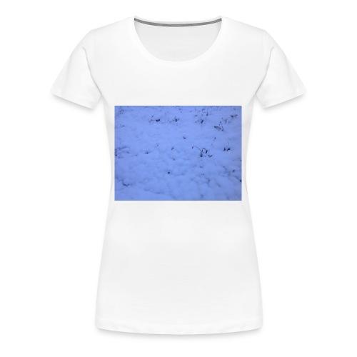 Deksel med vinterbilde - Premium T-skjorte for kvinner
