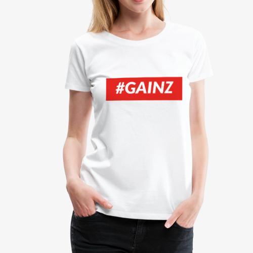 Gainz by Simon Mathis - Frauen Premium T-Shirt