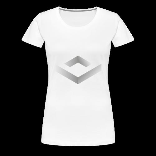 Black 3D Q-WHITE T-Shirt - Maglietta Premium da donna