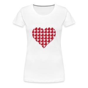 Miłość-love-Valentine dzień serce - Koszulka damska Premium