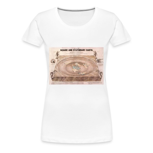 Earth in a square - Women's Premium T-Shirt