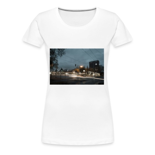 Oberhausen Hauptbahnhof Langzeitbelichtet - Frauen Premium T-Shirt