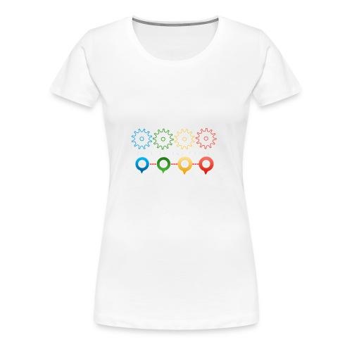 Make things happen - Bundes Artwork mit Zahnräder - Frauen Premium T-Shirt