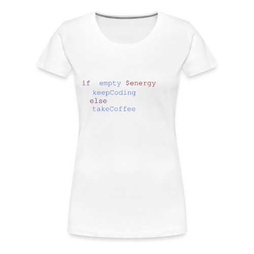 Coding Energie Check - Frauen Premium T-Shirt