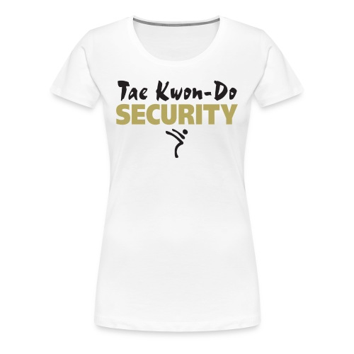 Taekwondo Security black & gold print - Women's Premium T-Shirt
