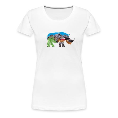 Russell Rhino Adventure - Women's Premium T-Shirt