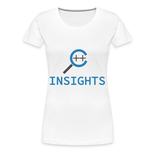 C++ Insights & Text - Frauen Premium T-Shirt