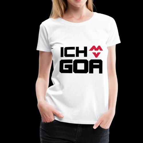 Ich Liebe Goa Musik Festival Valentinstag Geschenk - Frauen Premium T-Shirt