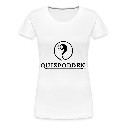Quizpodden, T-shirt svart - Premium-T-shirt dam