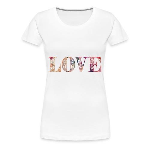 LOVE gemustert - Frauen Premium T-Shirt