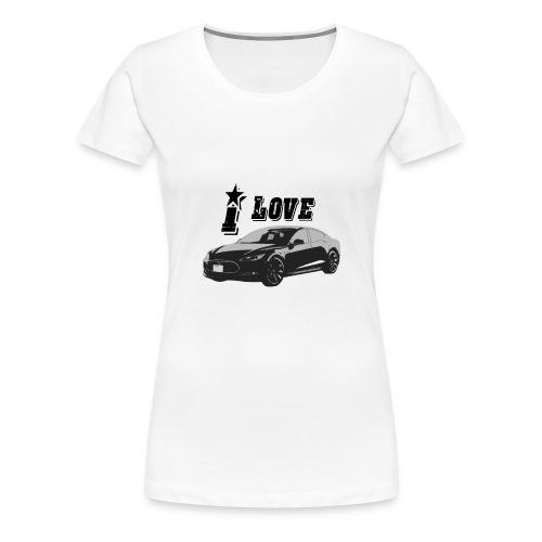 Tesla Model S - Vrouwen Premium T-shirt